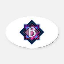 Funny Bonnie blue Oval Car Magnet
