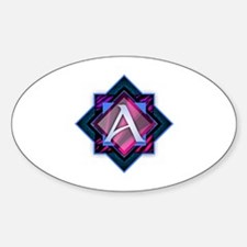 Cute Abagail Sticker (Oval)
