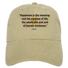 Happiness by Aristotle Baseball Cap