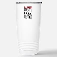 Farmer Badass Job Title Stainless Steel Travel Mug