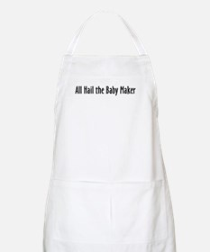 Baby Maker: Text Only BBQ Apron