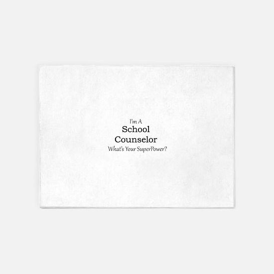School Counselor 5'x7'Area Rug