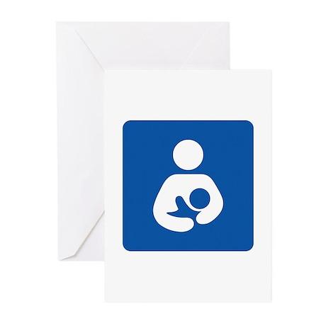 Breastfeeding Symbol Greeting Cards (10-pack)