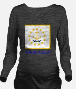 Flag And Name Long Sleeve Maternity T-Shirt