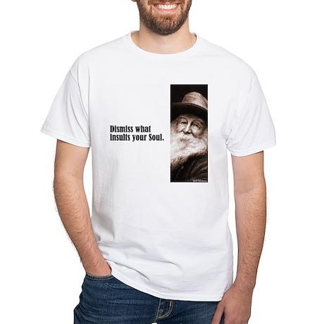 """Whitman """"Dismiss"""" White T-Shirt"""