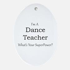 Dance Teacher Oval Ornament