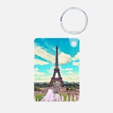 Paris Aluminum Photo Keychain