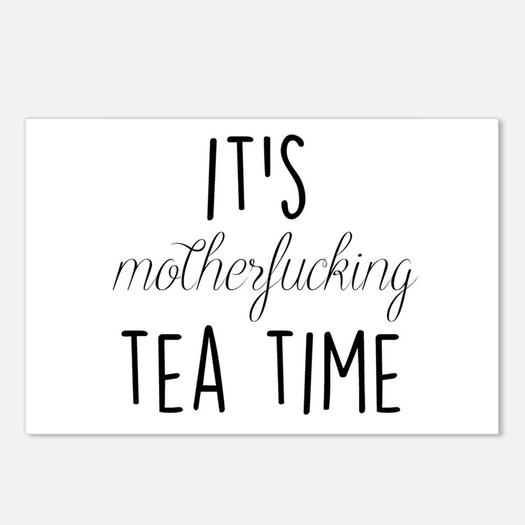 It's Tea Time Postcards (Package of 8)