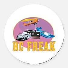 RC Freak Round Car Magnet