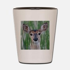Deer in the Cattails Shot Glass