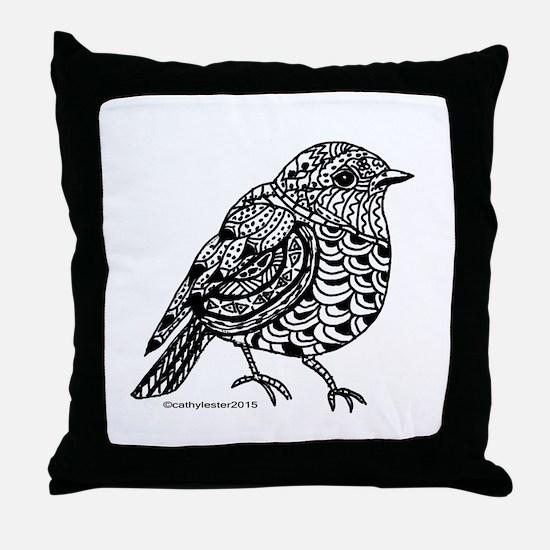 Little Bird 1 Throw Pillow