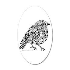 Little Bird 1 35x21 Oval Wall Decal