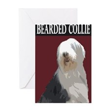 Cute Bearded collie Greeting Card