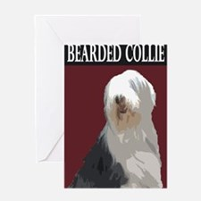 Unique Bearded collie Greeting Card
