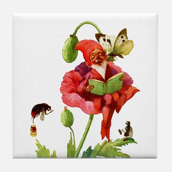 POPPY GNOME Tile Coaster
