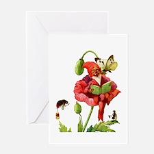 POPPY GNOME Greeting Card