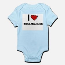 I Love Proclamations Digital Design Body Suit