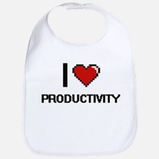 I Love Productivity Digital Design Bib