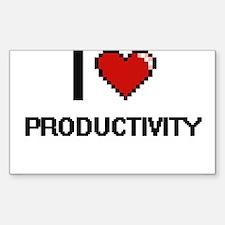 I Love Productivity Digital Design Decal
