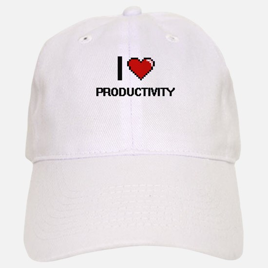 I Love Productivity Digital Design Baseball Baseball Cap