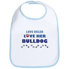 Love Helen Love Her Bulldog Bib