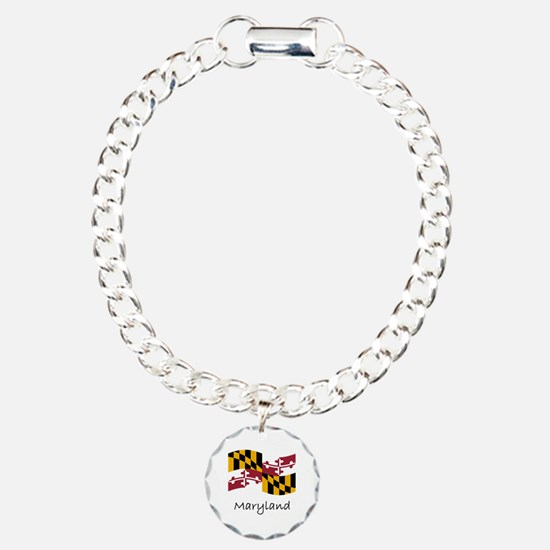 Waving Maryland Flag Bracelet