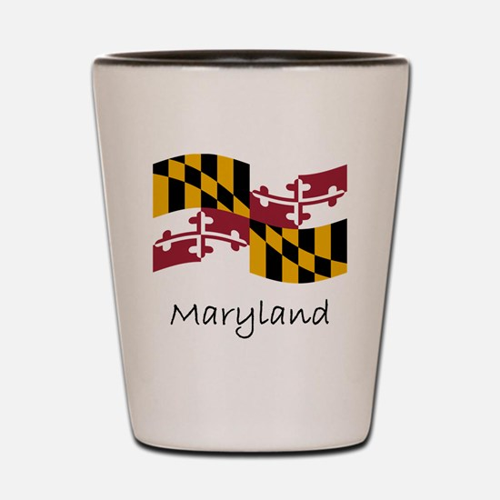 Waving Maryland Flag Shot Glass