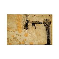 white daisy barn door Magnets