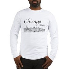Chicago on White Long Sleeve T-Shirt