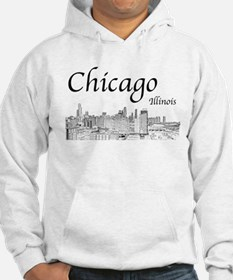Chicago on White Hoodie