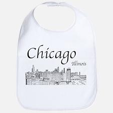 Chicago on White Bib