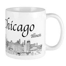 Chicago on White Mugs