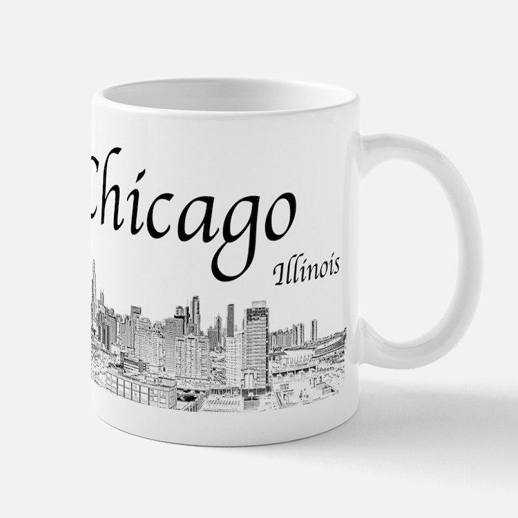 Chicago on White Mugs