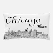 Chicago on White Pillow Case