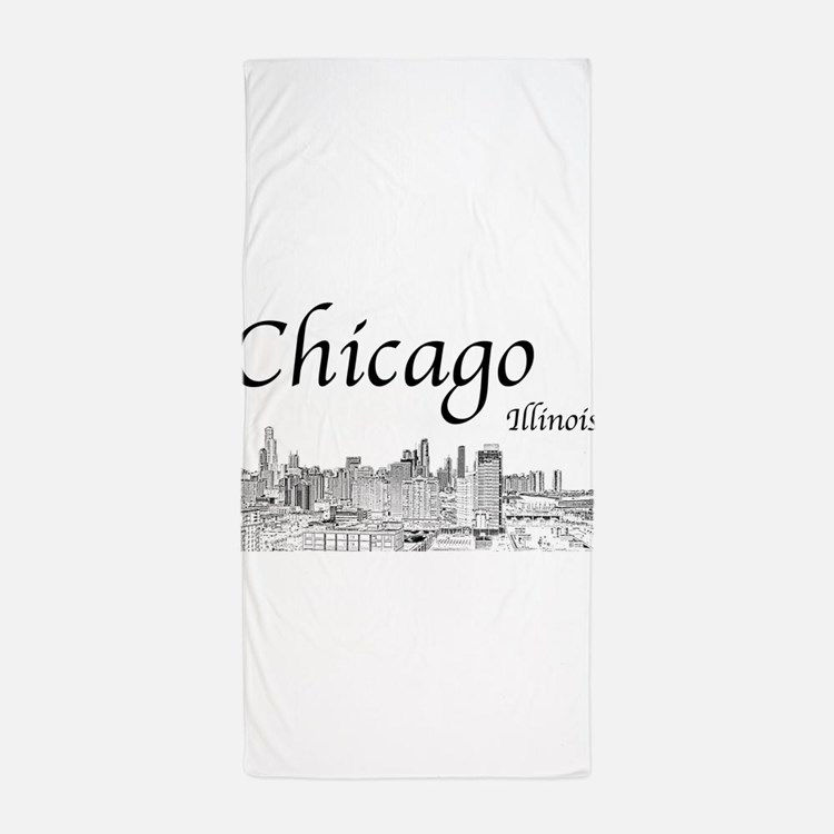 Chicago on White Beach Towel
