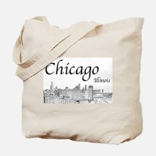 Chicago on White Tote Bag