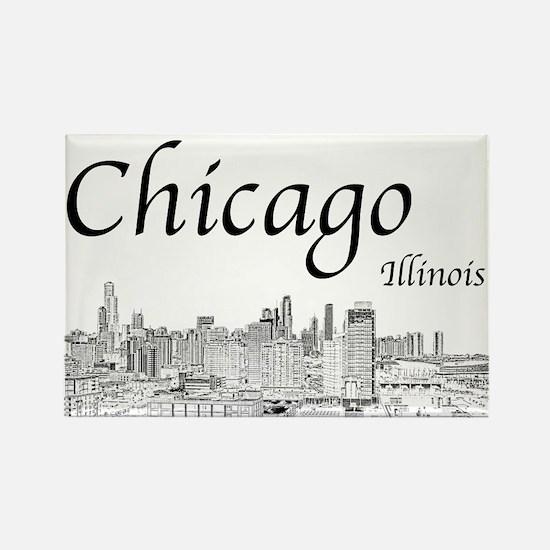 Chicago on White Magnets