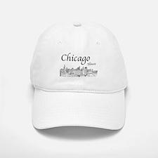 Chicago on White Baseball Baseball Baseball Cap