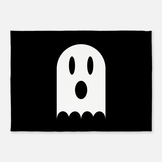 Cute Scary Halloween Ghost 5'x7'Area Rug