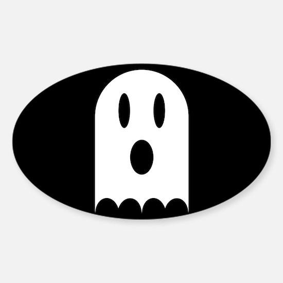 Cute Scary Halloween Ghost Sticker (Oval)