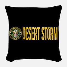 U.S. Army: Desert Storm Woven Throw Pillow