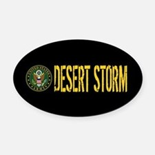 U.S. Army: Desert Storm Oval Car Magnet