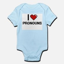 I Love Pronouns Digital Design Body Suit