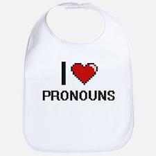 I Love Pronouns Digital Design Bib