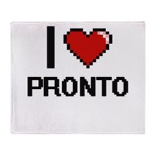 I Love Pronto Digital Design Throw Blanket