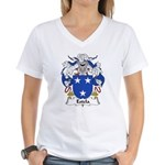 Estela Family Crest Women's V-Neck T-Shirt