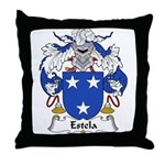 Estela Family Crest Throw Pillow