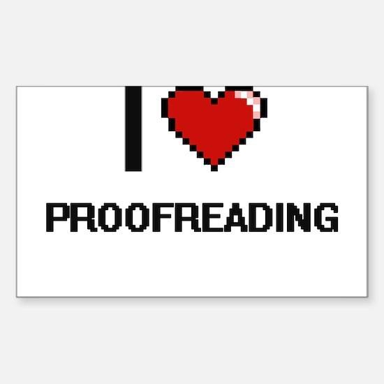 I Love Proofreading Digital Design Decal