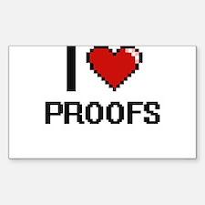 I Love Proofs Digital Design Decal