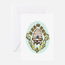 Beehive with Honeybees Greeting Cards (10pk.)